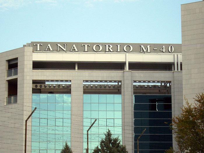 Rótulos Tanatorio M-40